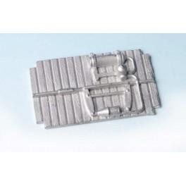 Sottocassa in metallo bianco per carro P - Art. 003Ac