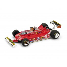 Ferrari 312 T4 G.P. Francia 1979 2° Gilles Villeneuve 12 con PILOTA - Art. R512-CH