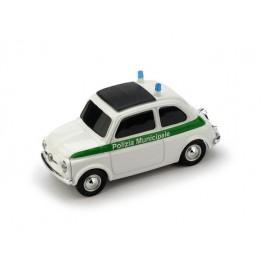 Fiat 500 Brums POLIZIA MUNICIPALE BIANCO-VERDE - Art. BR035V