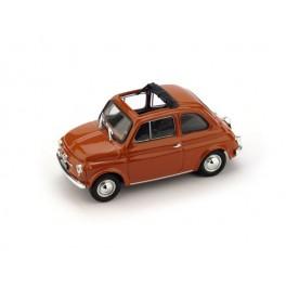 Fiat 500F aperta 1971-72 rosso corallo chiaro - Art. R454-14